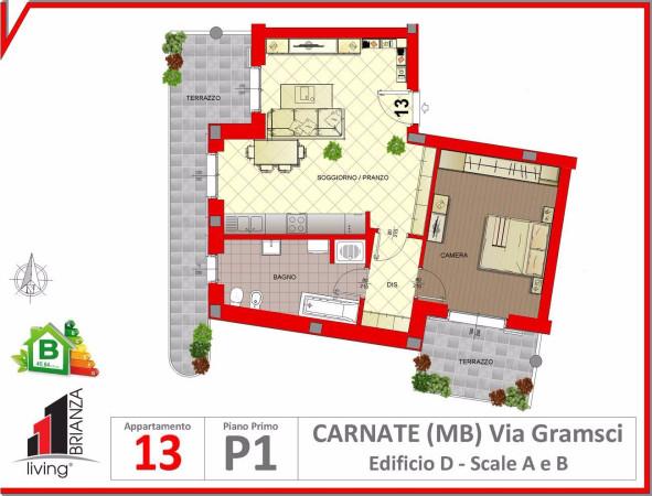 Appartamento in vendita a Carnate, 2 locali, prezzo € 155.000 | Cambio Casa.it