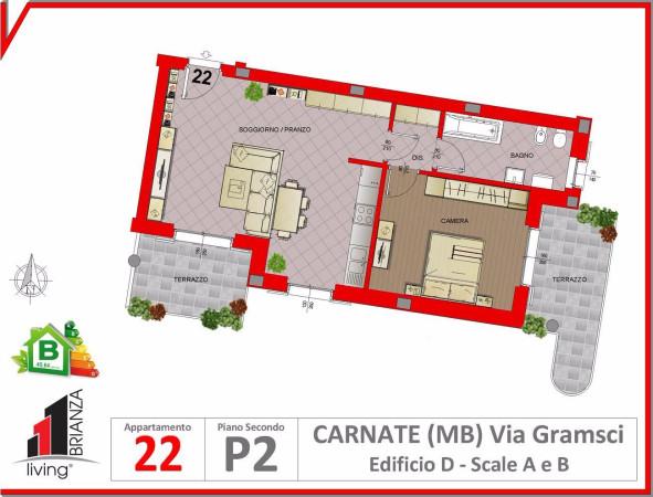 Appartamento in vendita a Carnate, 2 locali, prezzo € 145.000 | Cambio Casa.it