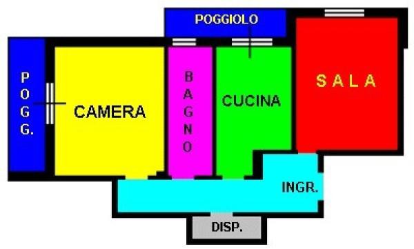 Bilocale Genova Via Gian Battista Gaulli 10