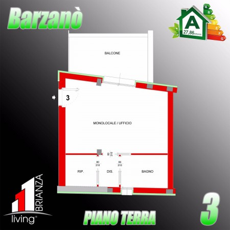 Appartamento in vendita a Barzanò, 1 locali, Trattative riservate | Cambio Casa.it
