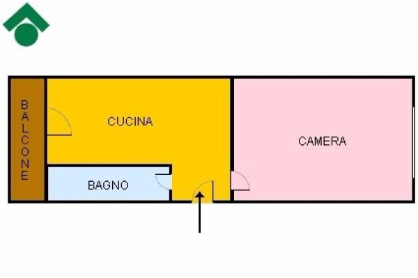 Bilocale Torino Corso De Gasperi, 71 1