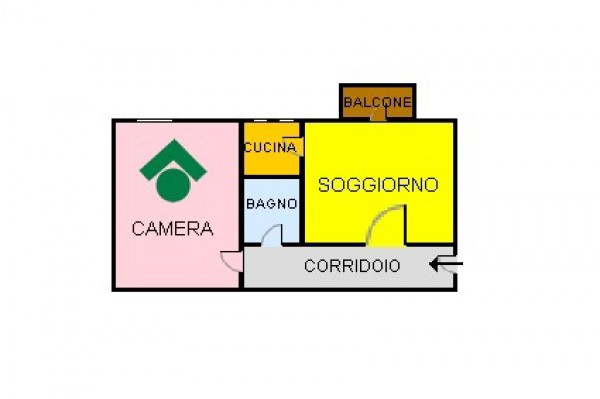 Bilocale Milano Via Mac Mahon 2