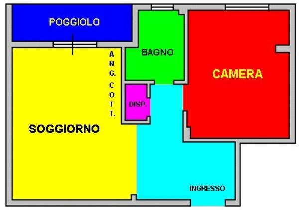 Bilocale Genova Via Giambattista Gaulli 11