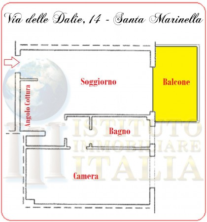 Bilocale Santa Marinella Via Delle Dalie 2