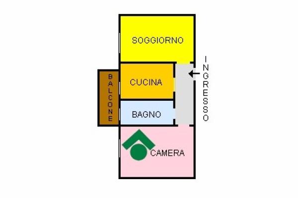 Bilocale Milano Via Angelo Inganni, 103 1