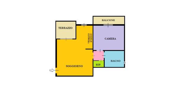 Bilocale Caronno Pertusella Via Trieste 11