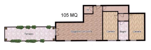 Bilocale Milano Viale Cassiodoro 13