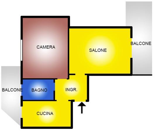 Appartamento in vendita a Ladispoli, 2 locali, prezzo € 86.000 | Cambio Casa.it