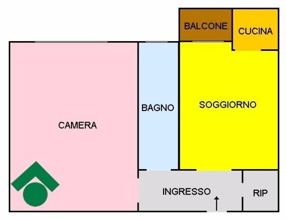 Bilocale Milano Via Mac Mahon, 9 13