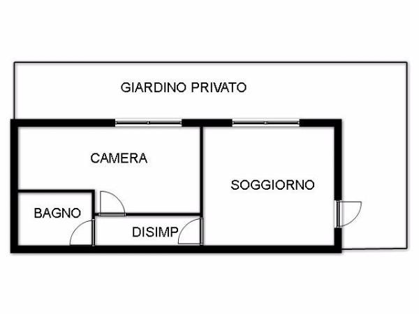 Bilocale Bologna Via Cuneo 11