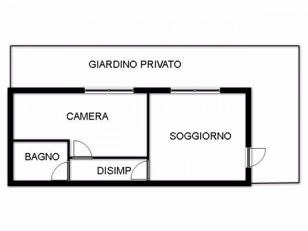 Bilocale Bologna Via Cuneo 3