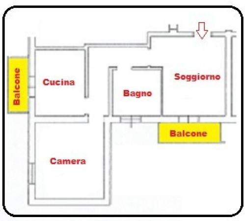 Bilocale Bologna Via Camillo Casarini 2