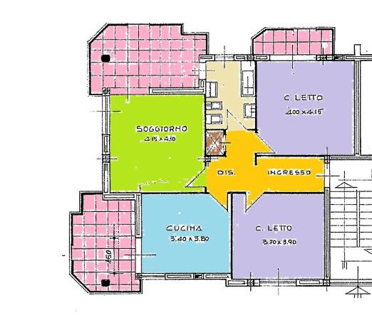 Appartamento in affitto a Borgo San Dalmazzo, 4 locali, prezzo € 350 | Cambio Casa.it