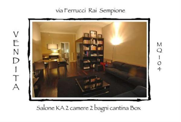 Appartamento in Vendita a Milano 09 Ceresio / Procaccini / Foro Bonaparte: 3 locali, 104 mq