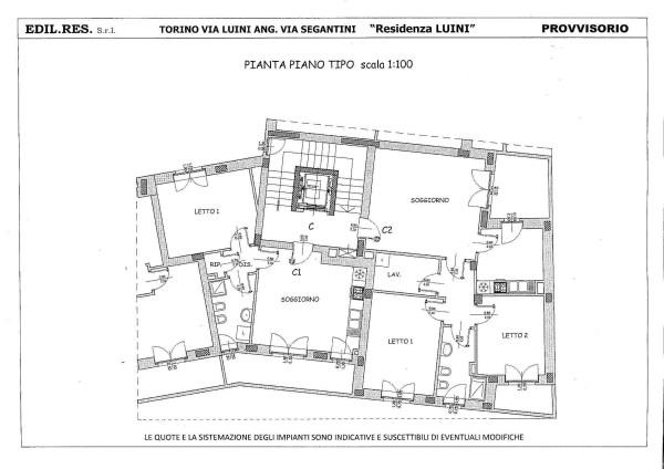 Vendita  bilocale Torino Via Bernardino Luini 1 898817