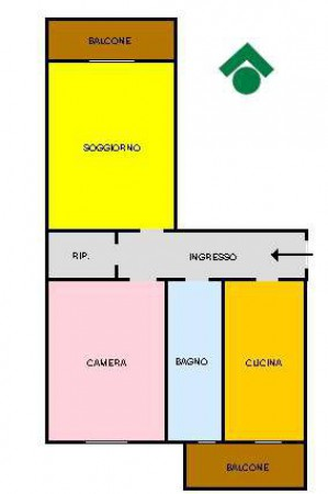 Vendita  bilocale Rescaldina Via Colombo, 17 1 874212