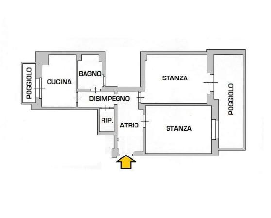 Vendita  bilocale Trieste Via Delle Settefontane 1 876054