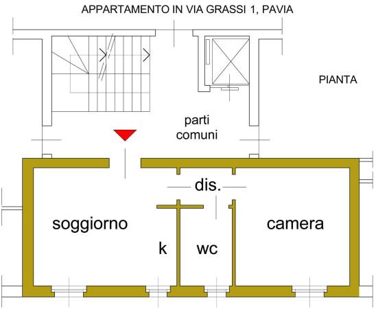 Vendita  bilocale Pavia Via Suor Luigia Grassi 1 945838