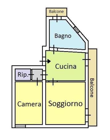 Vendita  bilocale Palermo Via Baida 1 951017