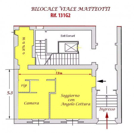 Vendita  bilocale Firenze Viale Matteotti 54, Firenze Fi 1 913102
