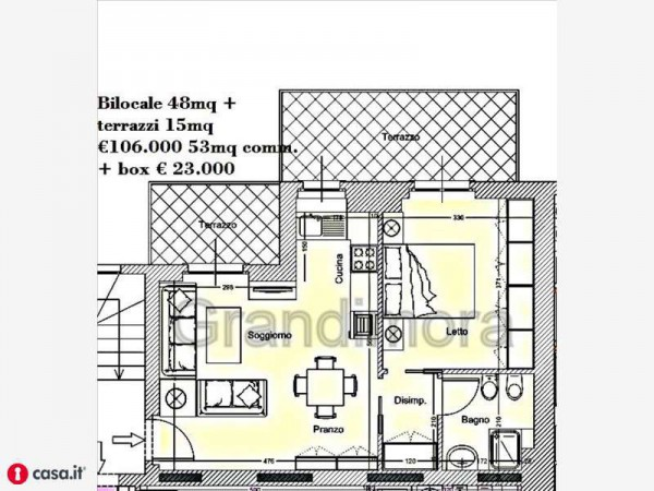 Vendita  bilocale Bergamo  1 1013511
