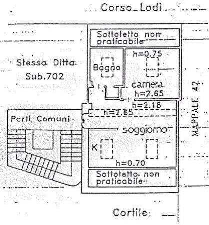 Vendita  bilocale Milano Corso Lodi 1 1078669